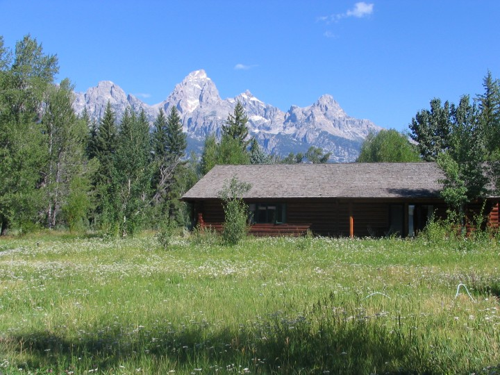 The Tetons make a spectacular background for our cabins.